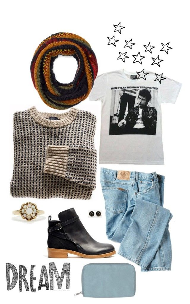"""""""Bob Dylan tee ."""" by molly796 ❤ liked on Polyvore featuring Acne Studios, Dickies, Monki, Urban Renewal, Accessorize, jeans, ankleboots, BobDylan and FirstDayLook"""