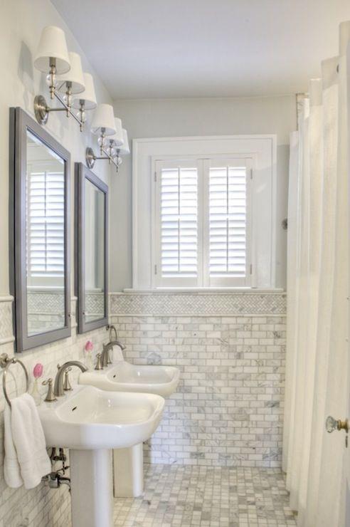 49 best images about tile on pinterest mosaics modern - Carrara marble floor tile bathroom ...