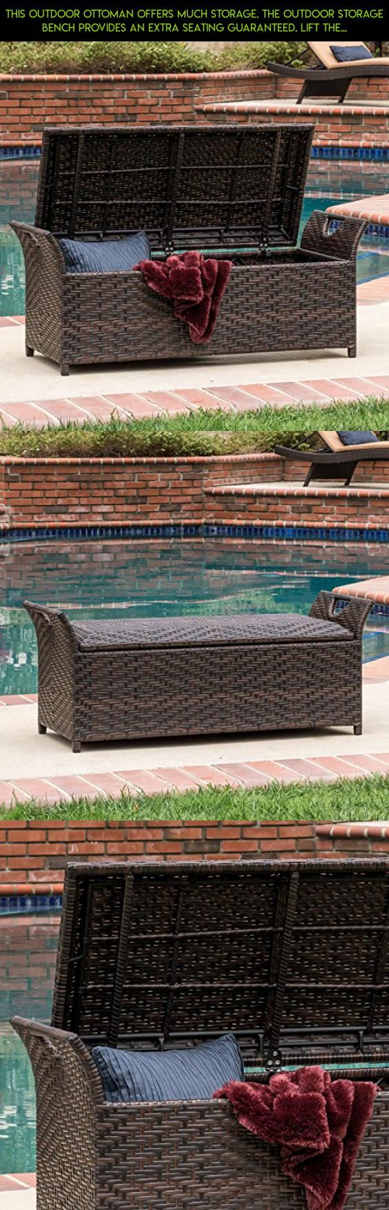 This Outdoor Ottoman Offers Much Storage. The Outdoor Storage Bench  Provides an Extra Seating Guaranteed - 25+ Best Ideas About Outdoor Storage Benches On Pinterest Garden