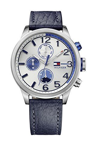 Tommy Hilfiger Casual 1791240 - Reloj de pulsera para hombre, analógico, cuarzo, piel, diseño deportivo