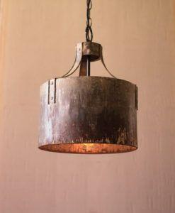 Metal Cylinder Pendant Light