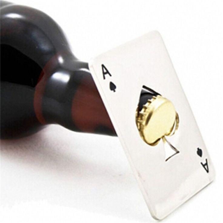 Cartão de Poker criativo Cerveja Abridor De Garrafa Personalizado Engraçado Abridor de Garrafas de Cartão de Crédito Cartão de Espadas de Aço Inoxidável Barra de Ferramentas em Abridores de Home & Garden no AliExpress.com | Alibaba Group