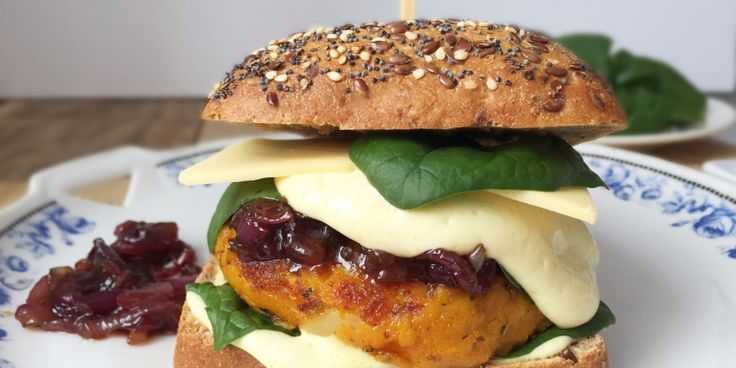 Skvělý burger z dýně hokaido burger