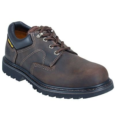 CAT Men's Brown Non-Slip 73238 Oxford Work Shoes