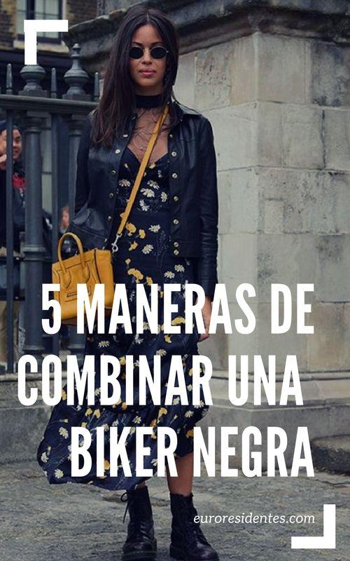 5 maneras de combinar la cazadora biker negra y crear un outfit de los más trendy.