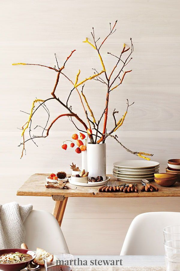 Branches Become A Colorful Sculptural Centerpiece When Wrapped With Colored Merino Wool And Fleece Gently Pull A Bit Of Fleece Ro