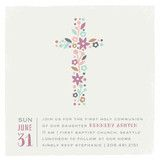 watercolor stripes First Communion Invitations by ...   Minted