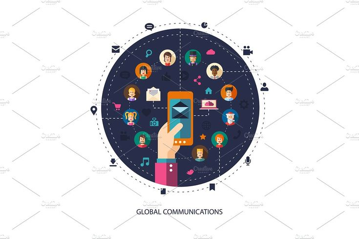 Global Communication Illustration by Decorwith.me Shop on @creativemarket
