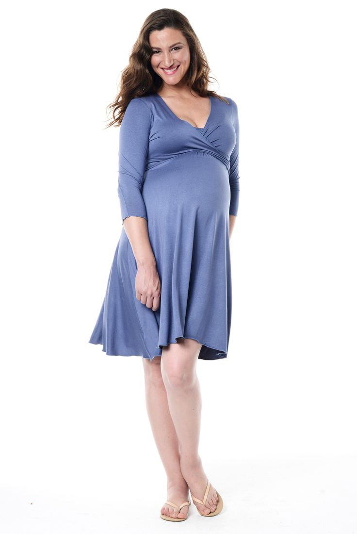 The signature Annabella dress is a maternity and breastfeeding dress! Simply untie the ties, unclip the breastfeeding clips and hey presto!