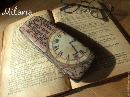 """Футляры, очечники ручной работы. Ярмарка Мастеров - ручная работа Очешник """"Время назад..."""". Handmade."""