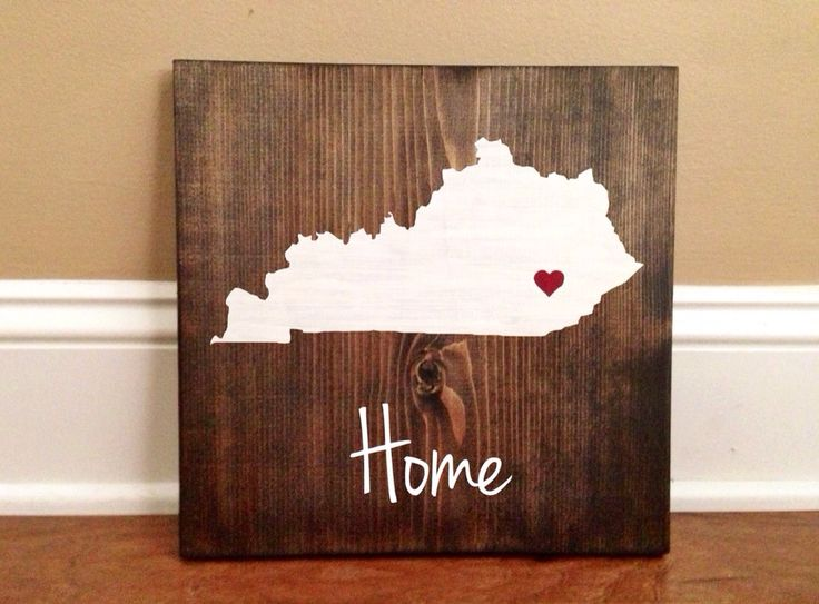 Pick Colors Kentucky Wood Sign Custom Kentucky by RusticStrokes