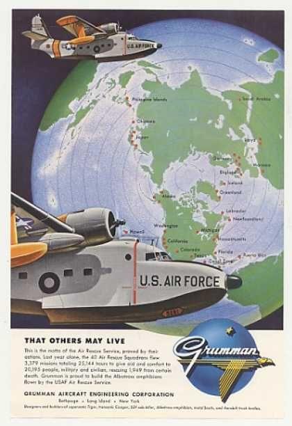 USAF Air Rescue Service Grumman Albatross Plane (1955)