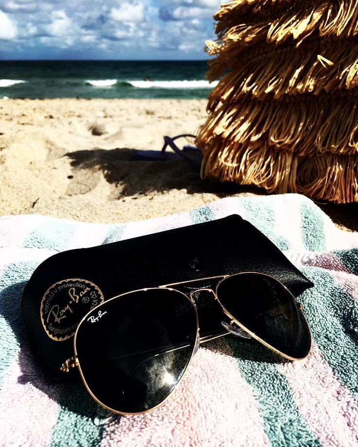 Its Always Perfect Beach Weather in Beautiful Sunny South Florida!! Make Sure to Protect Those Eyes With A Pair Of Timeless Stylish Ray Ban Aviators