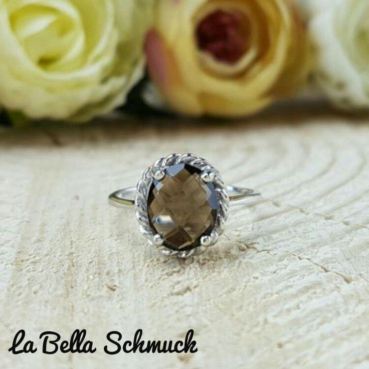 Rauchquarz Stein ring http://www.labella-schmuck.ch/produkt-kategorie/ringe/