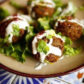 Falafel with Garlicky Tahini Sauce Recipe