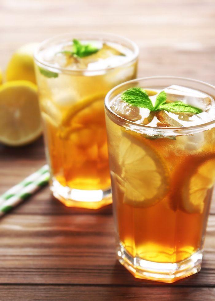 Traditional Iced Tea Recipe Mint Iced Tea Iced Tea Iced Tea