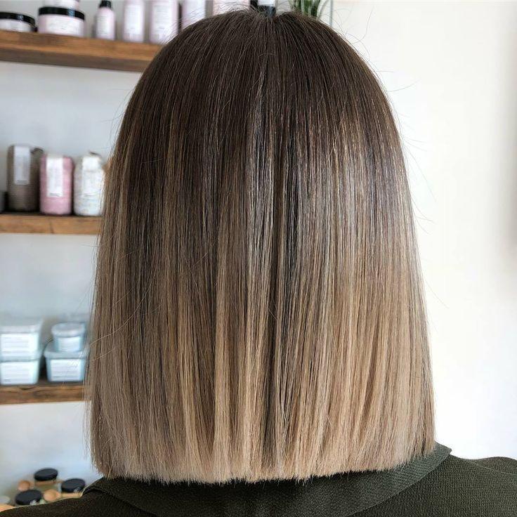 ombre handbemalt balayage braun bis blond dip dye mit flamboyage von Jasmine #balayage #blonde #brown #flamboyage #handbemalt