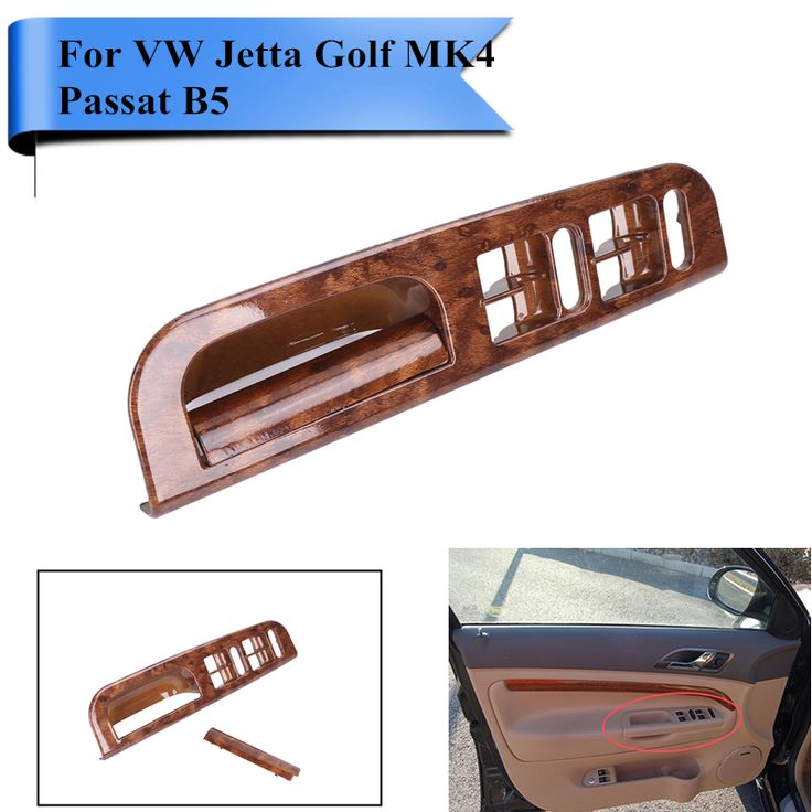 wood pattern car interior door window switch panel bezel handle trim set for vw jetta golf 4. Black Bedroom Furniture Sets. Home Design Ideas