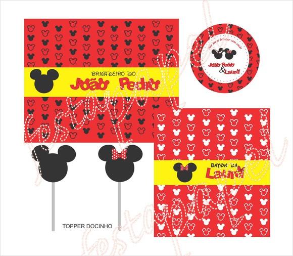 Kit Festa Mickey e Minie