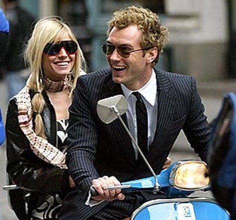 "Jude Law & Sienna Miller in ""Alfie""."