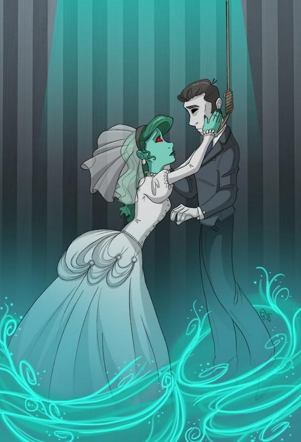 This haunted mansion bride/master gracey artwork is beautiful!