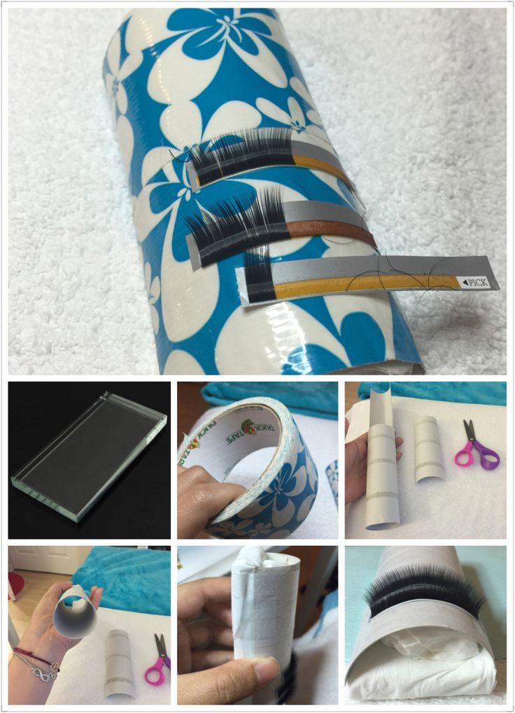 Diy eyelash extension volume palate needed duck tape