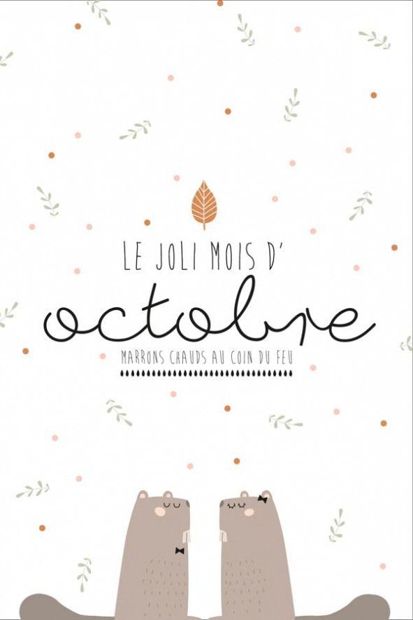 Hello Lautomne Une Jolie Carte Postale Et Le Calendrier Assorti A