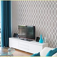 stencils for painting: Stencil Pattern, Ideas, Moroccan Stencil, Living Room, Wallpaper, Cutting Edge Stencils, Master Bedroom, Wall Stencils, Accent Wall