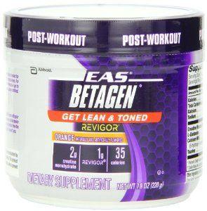 Suplemento EAS Betagen dietética, Orange, 7.8 onza por EAS   Diseñado para el uso post-entrenamiento, polvo de EAS Betagen tiene una combinación de creatina y HMB-ese metabolito Revigor-aminoácido se ha demostrado clínicamente que mejora la fuerza muscular y la composición corporal. Con 35 calorías por porción, EAS Betagen polvo puede ayudar a alcanzar sus metas lean-cuerpo.