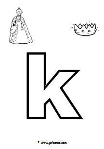versje de k is van koning