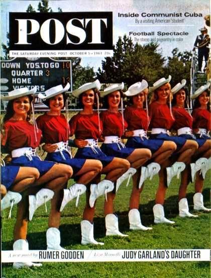 Saturday Evening Post - 1963-10-05: Kilgore College Cheerleaders (Lawrence J. Schiller)