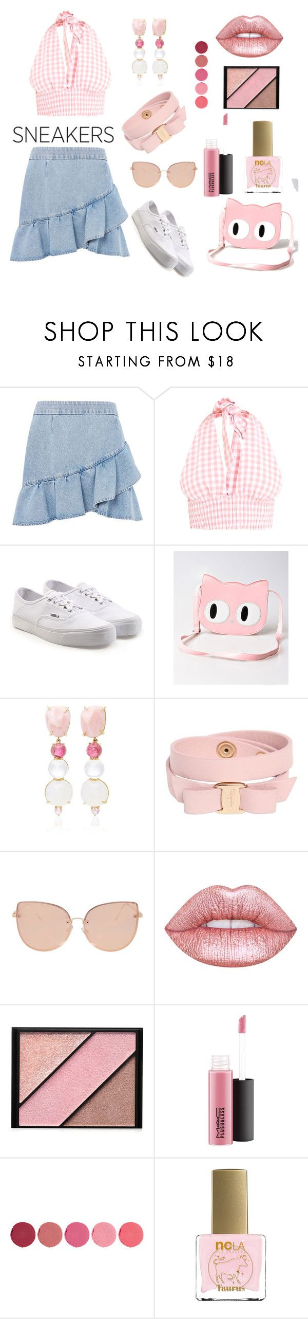 """""""Untitled #681"""" by siriusfun ❤ liked on Polyvore featuring Topshop, Vans, Banned, Daria de Koning, Salvatore Ferragamo, Lime Crime, Elizabeth Arden, MAC Cosmetics, Kjaer Weis and ncLA"""