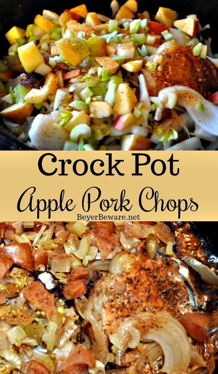 Crock Pot Apple Chuletas de cerdo es una sabrosa receta de chuleta de cerdo con …   – Pork chops
