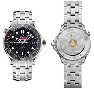 Limited Edition James Bond 50th Anniversary Omega Seamaster Watch    Spectacular bullet back  I don't like the front!