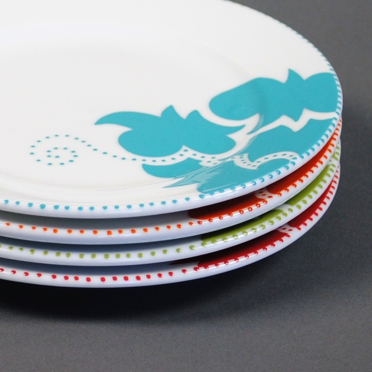 handpainted appetizer plates bright by - Horderves Plates