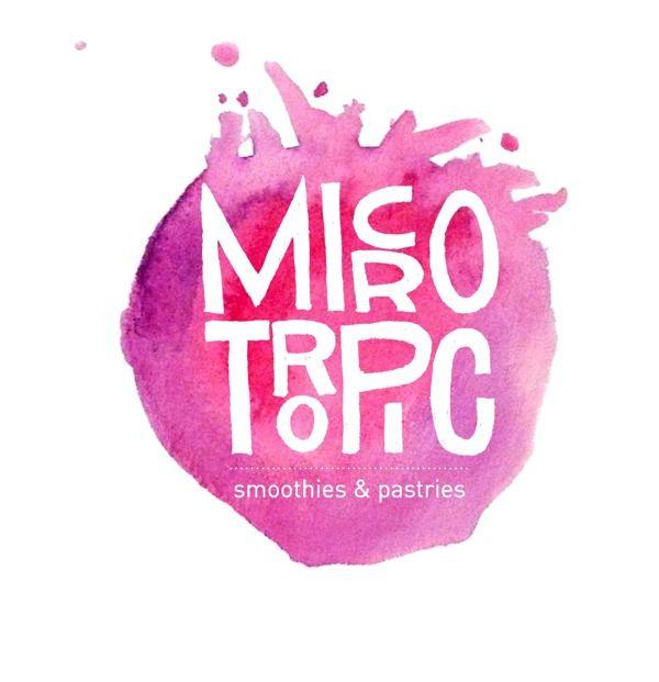 Watercolor typography logo design