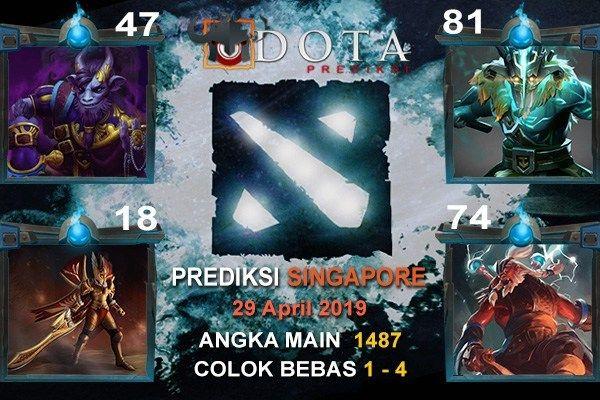 Prediksi SINGAPORE tanggal 29 APRIL 2019 Angka Main : 1487