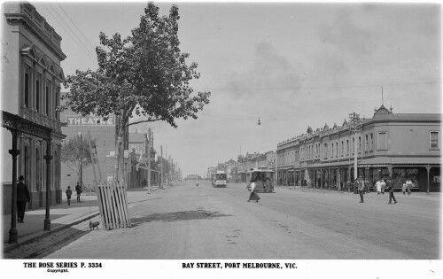 Bay St,Port Melbourne,Victoria (year unknown).