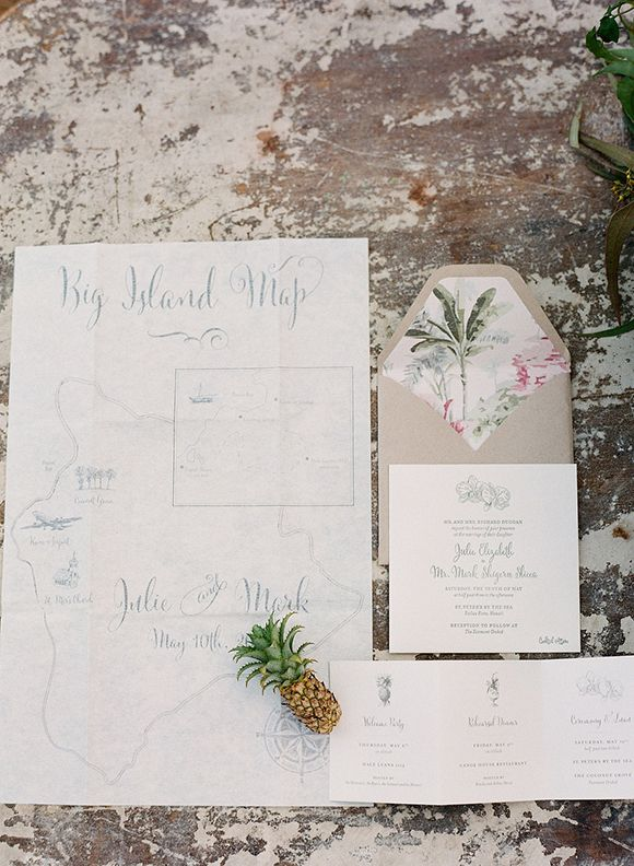 Tropical chic newport reception party tropical for Wedding invitations newport beach