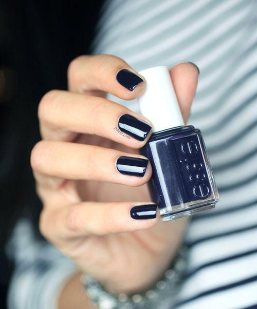 Essie nail polish - Love this navy blue color!
