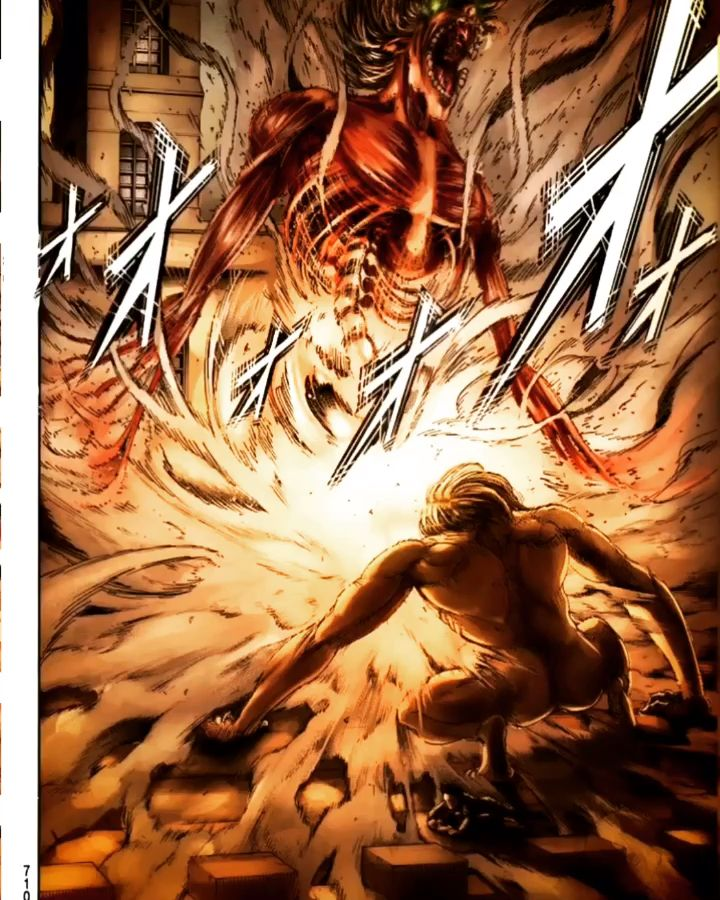 The attack titan vs. the jaws titan on Marley aot snk