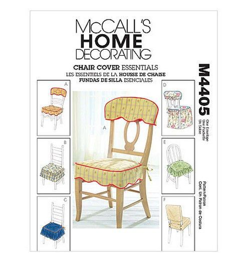 SEWING PATTERN McCalls M4405 DINING ROOM KITCHEN CHAIR COVERS