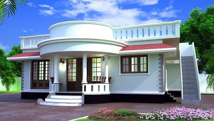 Modern Single Storied Home Designs 1000 Sq Ft Single Storied Kerala Home Designs 1000 Square Fee Kerala House Design Modern House Plans Bungalow House Design