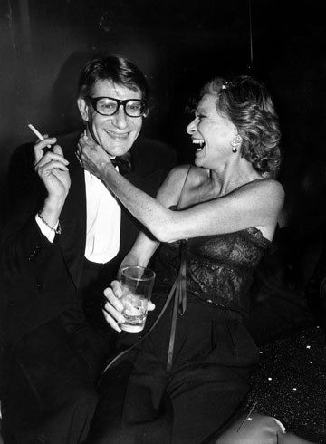 Yves Saint Laurent and Nan Kempner