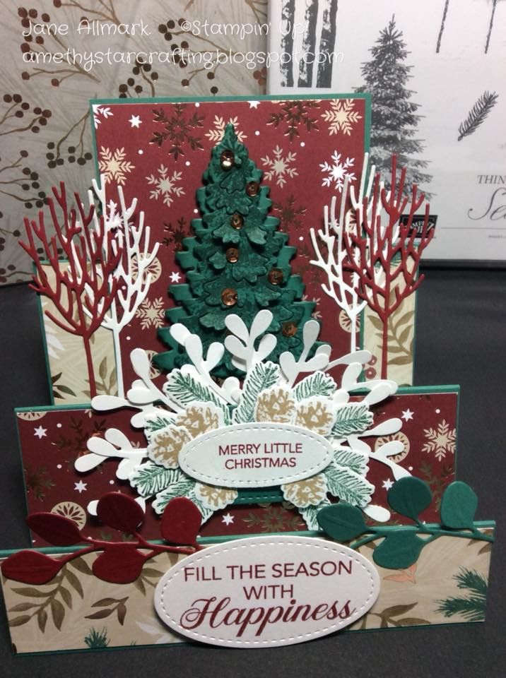 Stampin\' Up! winter woods, | Christmas Cards | Pinterest | Christmas ...