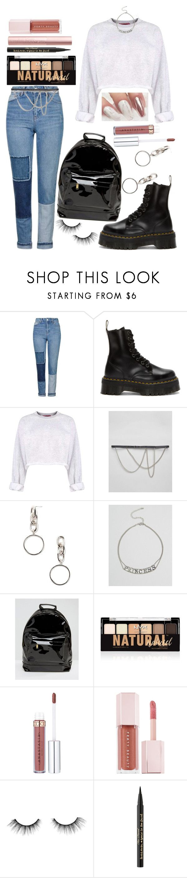 """""""OOTD 12.29.17"""" by angelsaffairs ❤ liked on Polyvore featuring Topshop, Dr. Martens, Reclaimed Vintage, Forever 21, ASOS, Mi-Pac, NYX, Puma, tarte and Too Faced Cosmetics"""