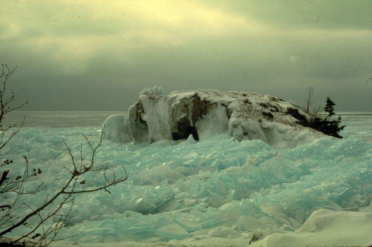 Ice along Lake Superior's North Shore, Lake Superior, Minnesota