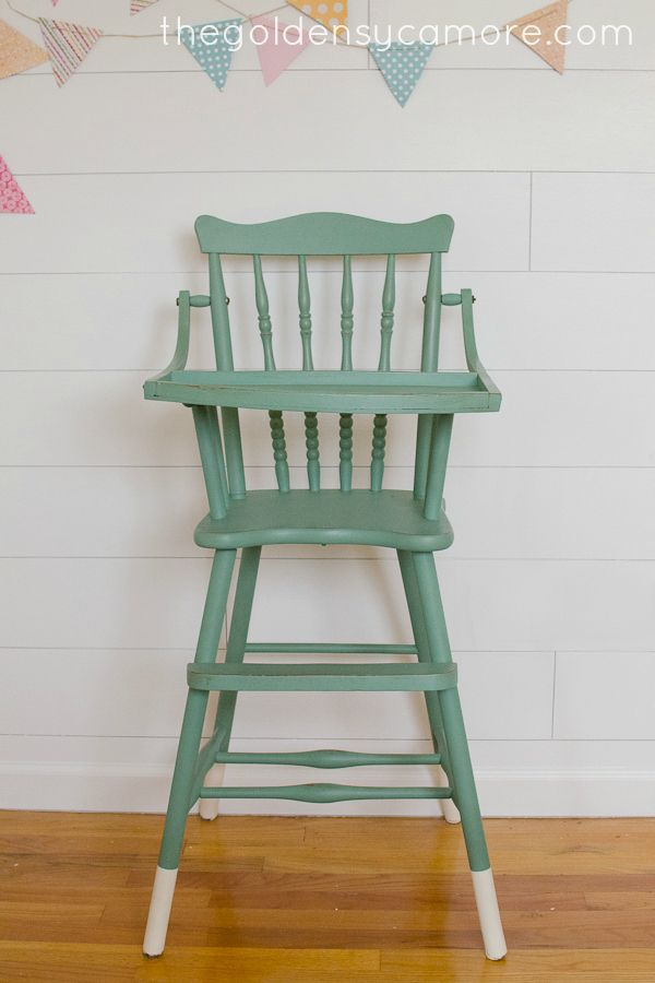Micah, this looks like the one you bought this summer. The Golden Sycamore: Dipped Leg Vintage Highchair #diy #vintage