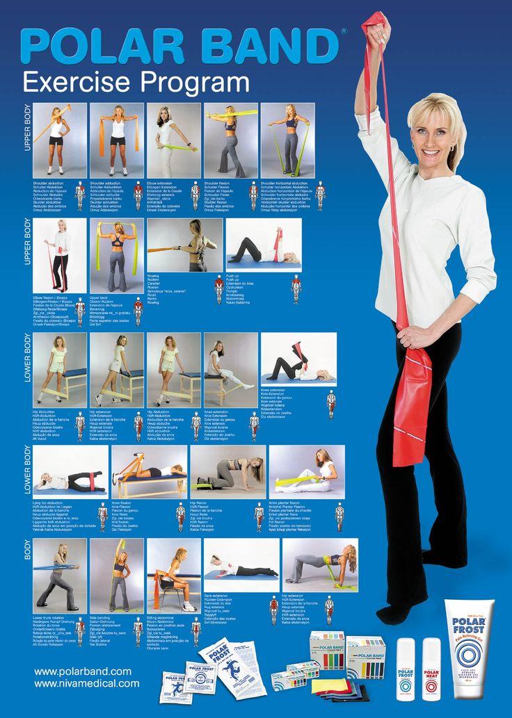 Printable Resistance Band Exercise Chart | Polar Band Exercise chart ...