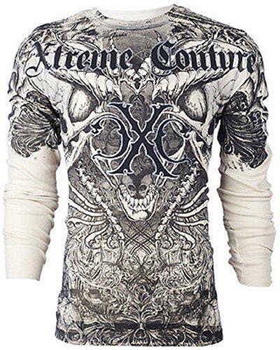 Xtreme Couture AFFLICTION Men THERMAL T-Shirt AZTEC Skull Tattoo Biker, http://www.amazon.com/dp/B00TUNXP64/ref=cm_sw_r_pi_awdm_MMEJvb07B6R0B